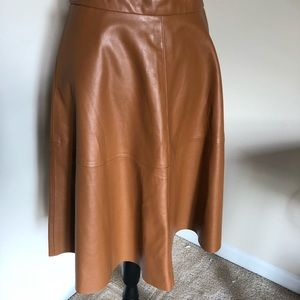 Dresses & Skirts - NWT F21 cognac faux leather skirt